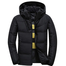 Load image into Gallery viewer, 2019 mens winter parkas Solid Color Zipper Men Casual Hooded Parka Mens Coats Jackets Outdoor Sports Parka Coat Men's Jacket