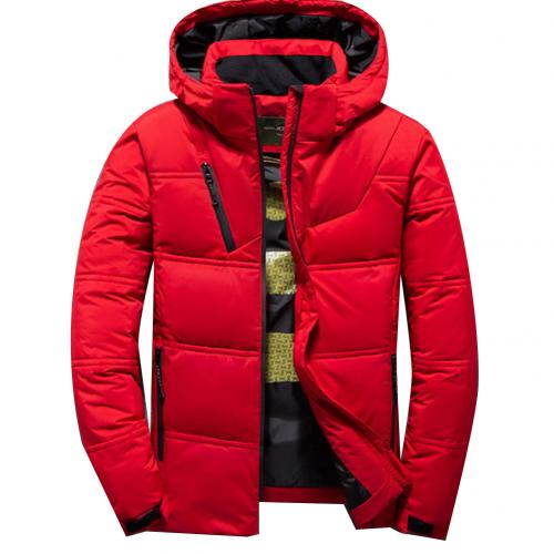 2019 mens winter parkas Solid Color Zipper Men Casual Hooded Parka Mens Coats Jackets Outdoor Sports Parka Coat Men's Jacket