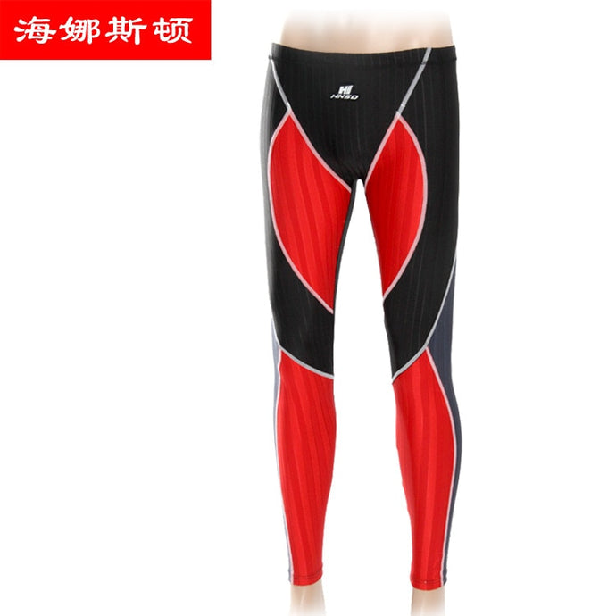 New Style Men Capri Swimming Trunks Profession Athletic Streamline Design UV-Protection Swimming Trunks Ultra-Long Swimming Trun