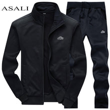 Load image into Gallery viewer, Tracksuits Men Polyester Sweatshirt Sporting Fleece 2019 Gyms Spring Jacket + Pants Casual Men's Track Suit Sportswear Fitness