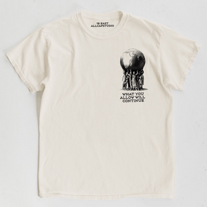 ALLCAPSTUDIO x 18 EAST: SILENCE IS VIOLENCE TEE  (UNDYED COTTON)