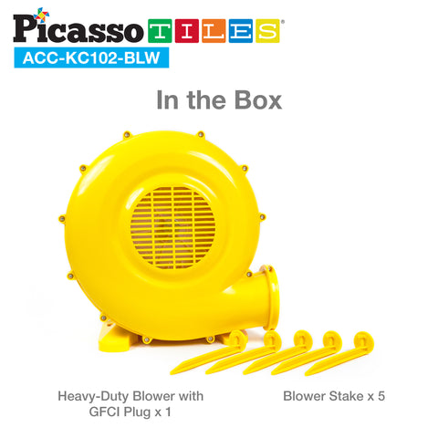 PicassoTiles® ETL Certified 385W Inflatable Bounce Air Blower