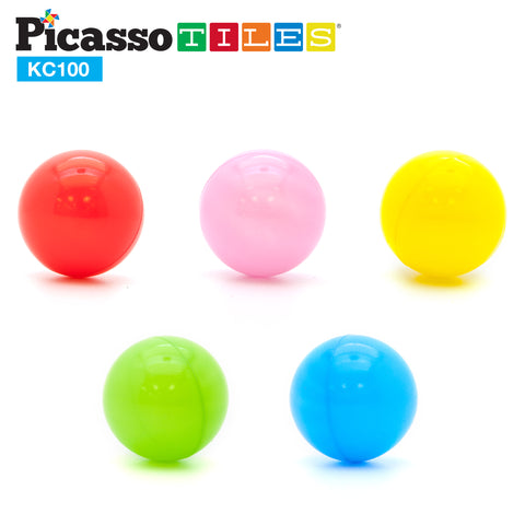 PicassoTiles® KC100 100pc 2.3inches BPA Free Crush Proof Plastic Ball