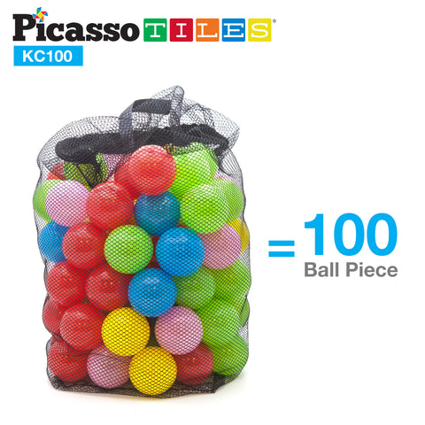 Image of PicassoTiles® KC100 100pc 2.3inches BPA Free Crush Proof Plastic Ball