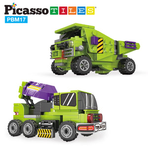 PicassoTiles 6-in-1 City Work Construction STEM Robot Toy Kit PBM17