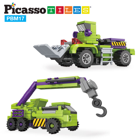 Image of PicassoTiles 6-in-1 City Work Construction STEM Robot Toy Kit PBM17