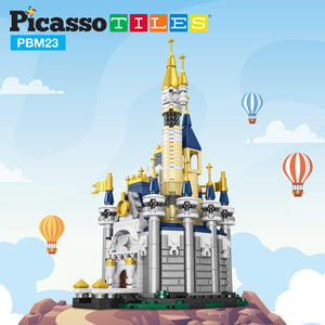 PicassoTiles 305 Piece Sky Castle Building Block Kit PBM23