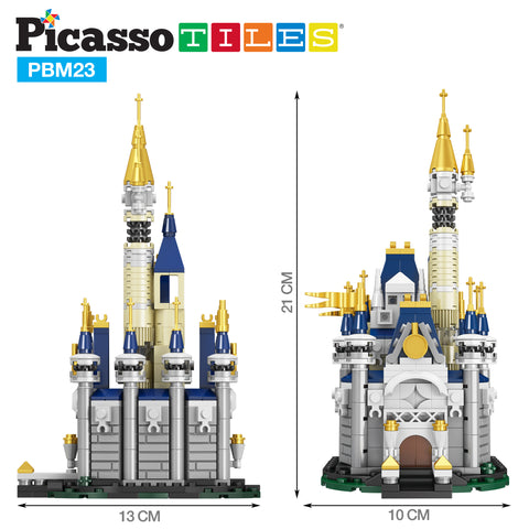 Image of PicassoTiles 305 Piece Sky Castle Building Block Kit PBM23