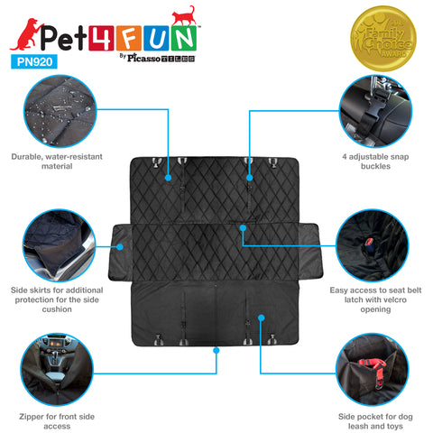 Image of PET4FUN® PN920 Waterproof Hammock Pet Seat Cover