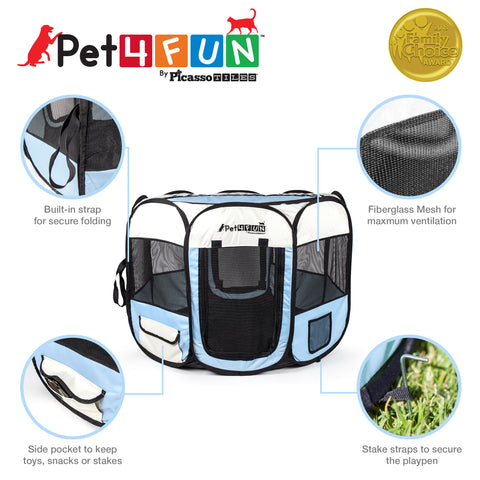"PET4FUN® PN935/PN945 29"" & 36"" Portable Playpen (Upgrade Version)"