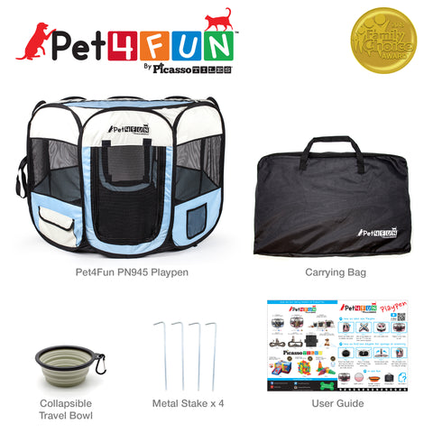"Image of PET4FUN® PN935/PN945 29"" & 36"" Portable Playpen (Upgrade Version)"
