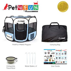 "PET4FUN PN935 29"" Portable Playpen (Upgrade Version)"