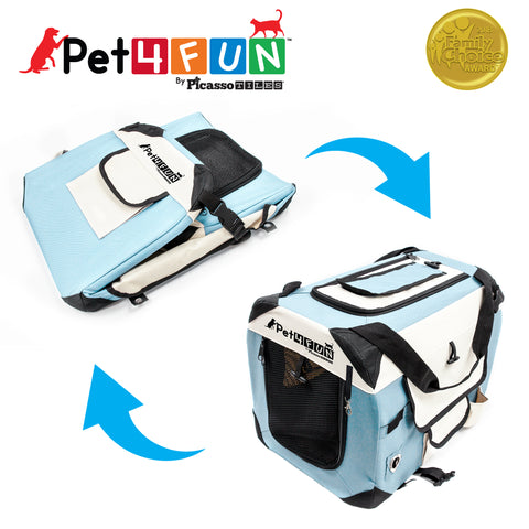Image of PET4FUN® PN950 Foldable Pet Carrier (Small)