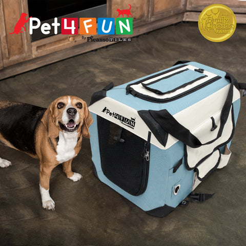 Image of PET4FUN® PN951 Foldable Pet Carrier (Medium)