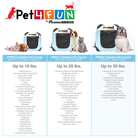 Image of PET4FUN® PN952 Foldable Pet Carrier (Large)