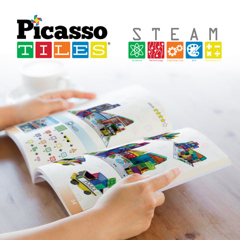 PicassoTiles Idea Book with More Than 110 Pages of Ideas