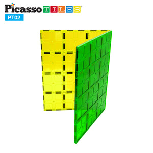 PicassoTiles® PT02 2 Piece Set Magnet Tiles Large Stabilizer Base Jumbo XL Plate