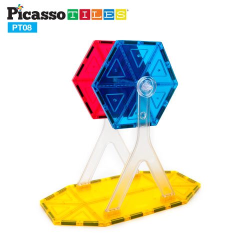 Image of PicassoTiles® 8 Piece Ferris Wheel Accessory Kit PT08