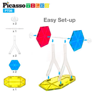 PicassoTiles® 8 Piece Ferris Wheel Accessory Kit PT08