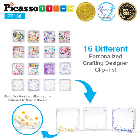 PicassoTiles® 136 Piece Deluxe Combo Clip-In Extension Set PT136