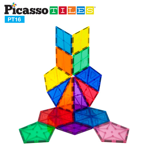 Image of PicassoTiles® 16 Piece Geometry Set PT16