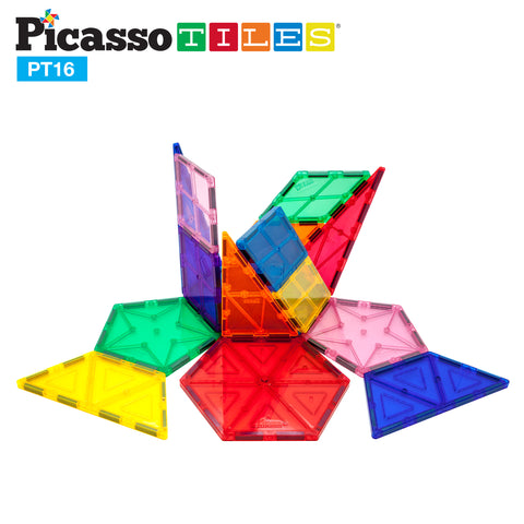 PicassoTiles® 16 Piece Geometry Set PT16