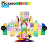 PicassoTiles 200 Piece Castle Click-In Set with 2 Figures, Car, and Windmill