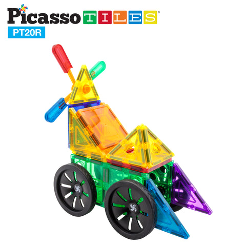 Image of PicassoTiles® 20 Piece Windmill & Wheel Set PT20R