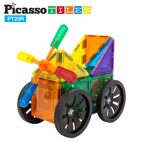 PicassoTiles® 20 Piece Windmill & Wheel Set PT20R