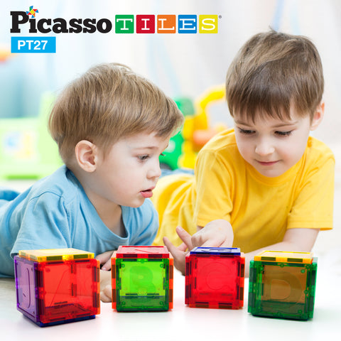 Image of PicassoTiles® PT27 Piece Alphabet Set Magnet Tiles
