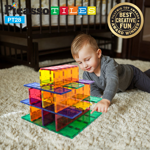 PicassoTiles® PT28 Piece Set Magnet Tiles
