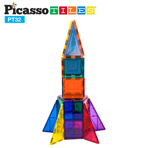 Image of PicassoTiles® 32 Rocket Set PT32