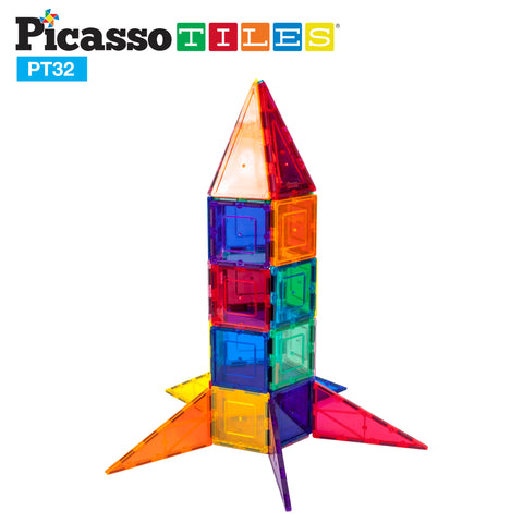 PicassoTiles® 32 Rocket Set PT32
