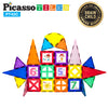 PicassoTiles® 42 Piece Set Including 10 Click-In Graphic Art Pieces PT42C