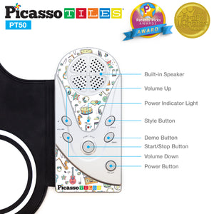 PicassoTiles® PT50 Flexible Roll-Up Educational Electronic Drum Kit