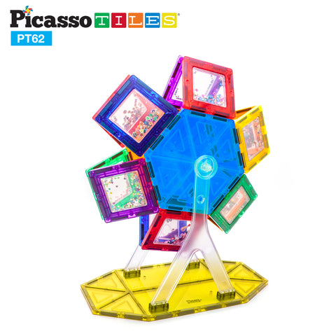 Image of PicassoTiles® 62 Piece Ferris Wheel Set PT62