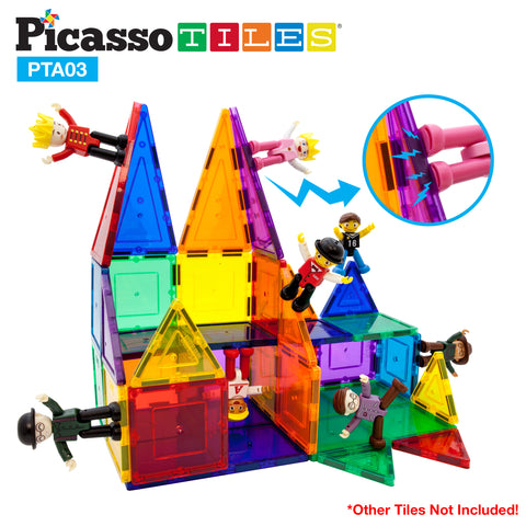 Image of PicassoTiles® 8 Piece Character Figure Set PTA03