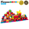 PicassoTiles® PTB151 Truck Theme Bristle Shape 151 Pcs Building Set
