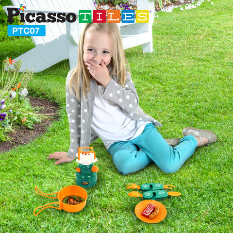 Image of PicassoTiles® PTC07 7 Piece Camp Set For Kids
