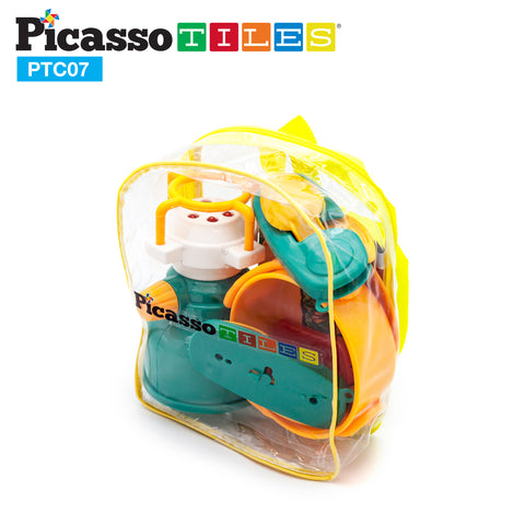PicassoTiles® PTC07 7 Piece Camp Set For Kids