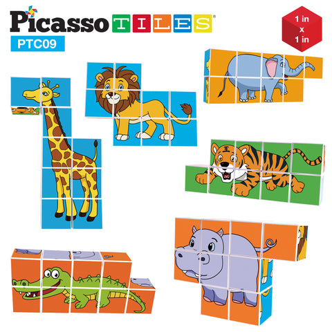 Image of PicassoTiles 9 Piece Magnetic Magic Puzzle Cube Set