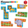 PicassoTiles 9 Piece Magnetic Magic Puzzle Cube Set PTC09