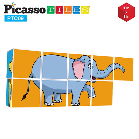 Image of PicassoTiles 9 Piece Magnetic Magic Puzzle Cube Set PTC09