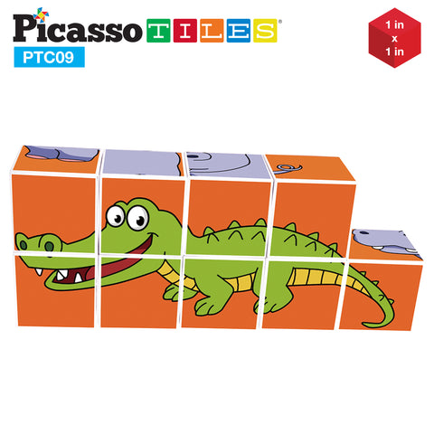 PicassoTiles® 9 Piece Magnetic Magic Puzzle Cube Set