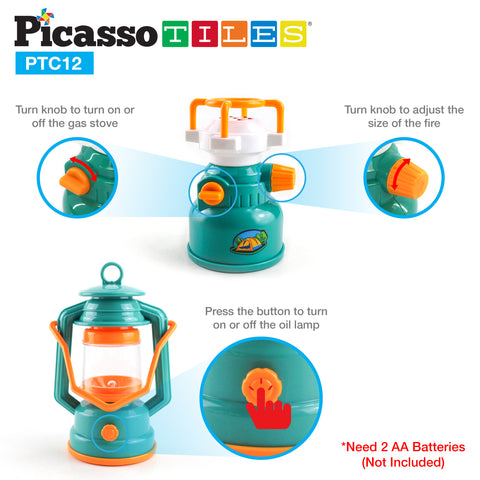 PicassoTiles® PTC12 12 Piece Camp Set For Kids