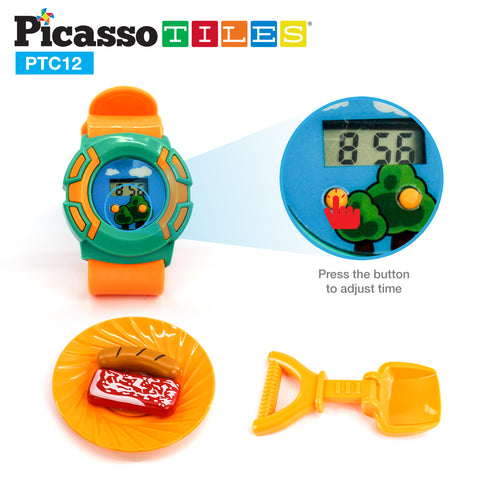 Image of PicassoTiles® PTC12 12 Piece Camp Set For Kids