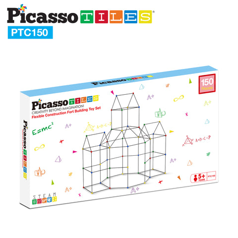 Image of PicassoTiles 150 Piece Fort Building Kit