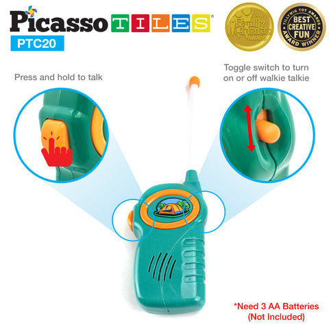PicassoTiles® PTC20 20 Piece Camp Set For Kids
