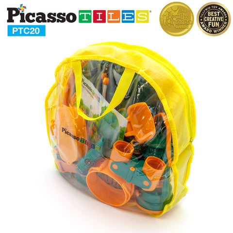 Image of PicassoTiles® PTC20 20 Piece Camp Set For Kids