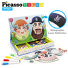 PicassoTiles 102 Piece Magnetic Puzzle Faceboard Game Board Activity Book PTD01